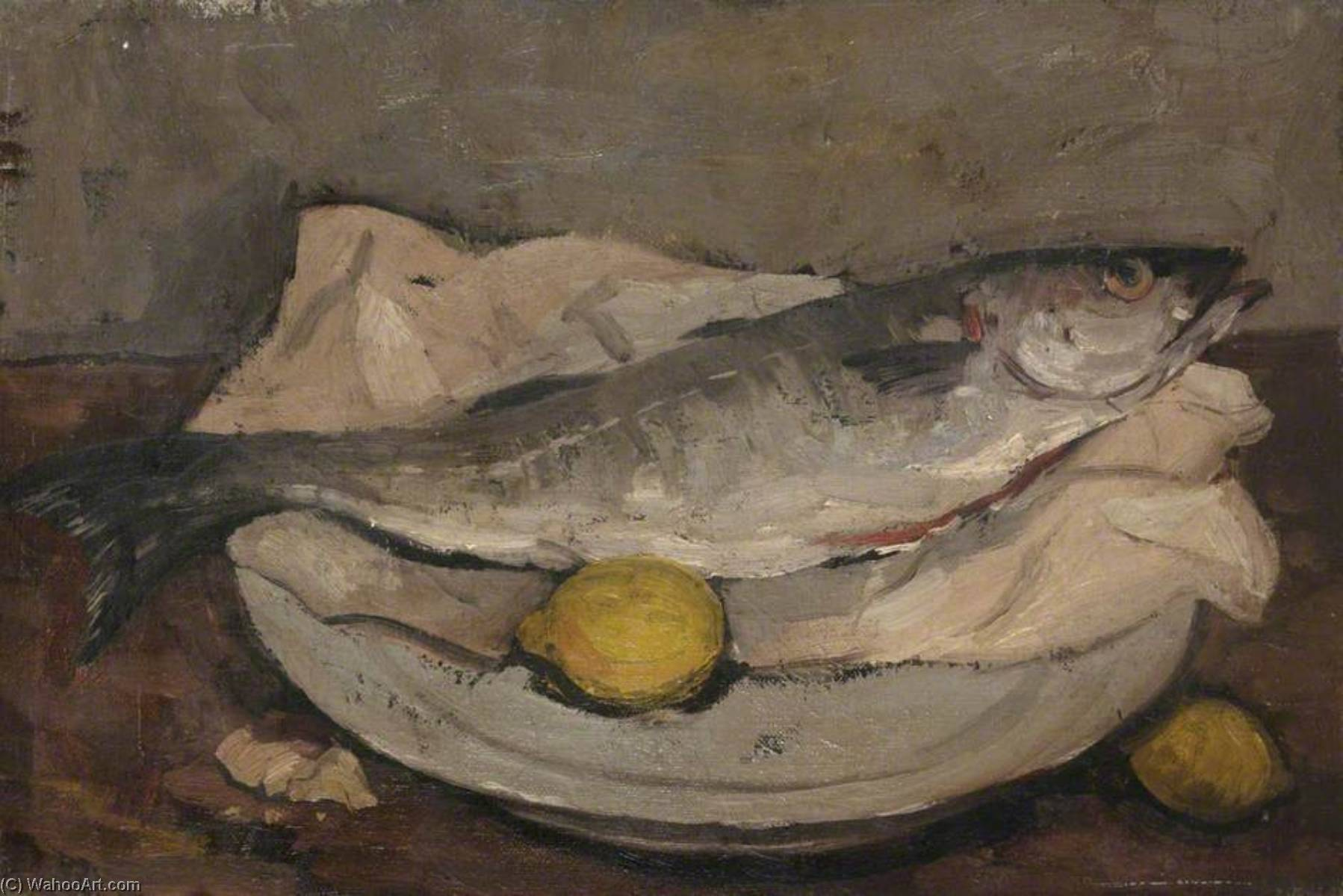 Still Life with Fish, 1949 by Alastair Frederick Flattely | Museum Art Reproductions Alastair Frederick Flattely | ArtsDot.com