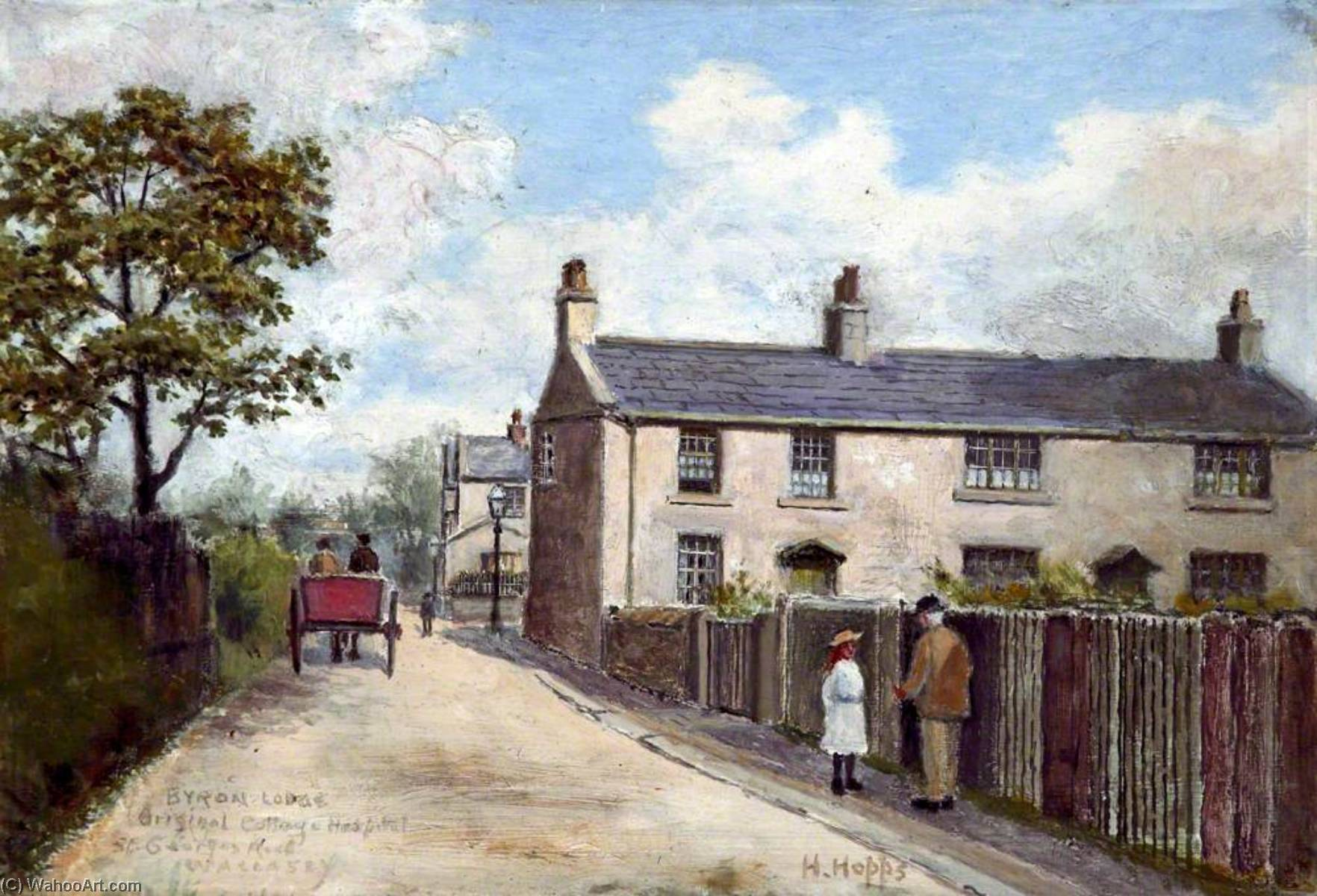 Byron Lodge, St George`s Road, Wallasey, Wirral by Harold Hopps | Painting Copy | ArtsDot.com