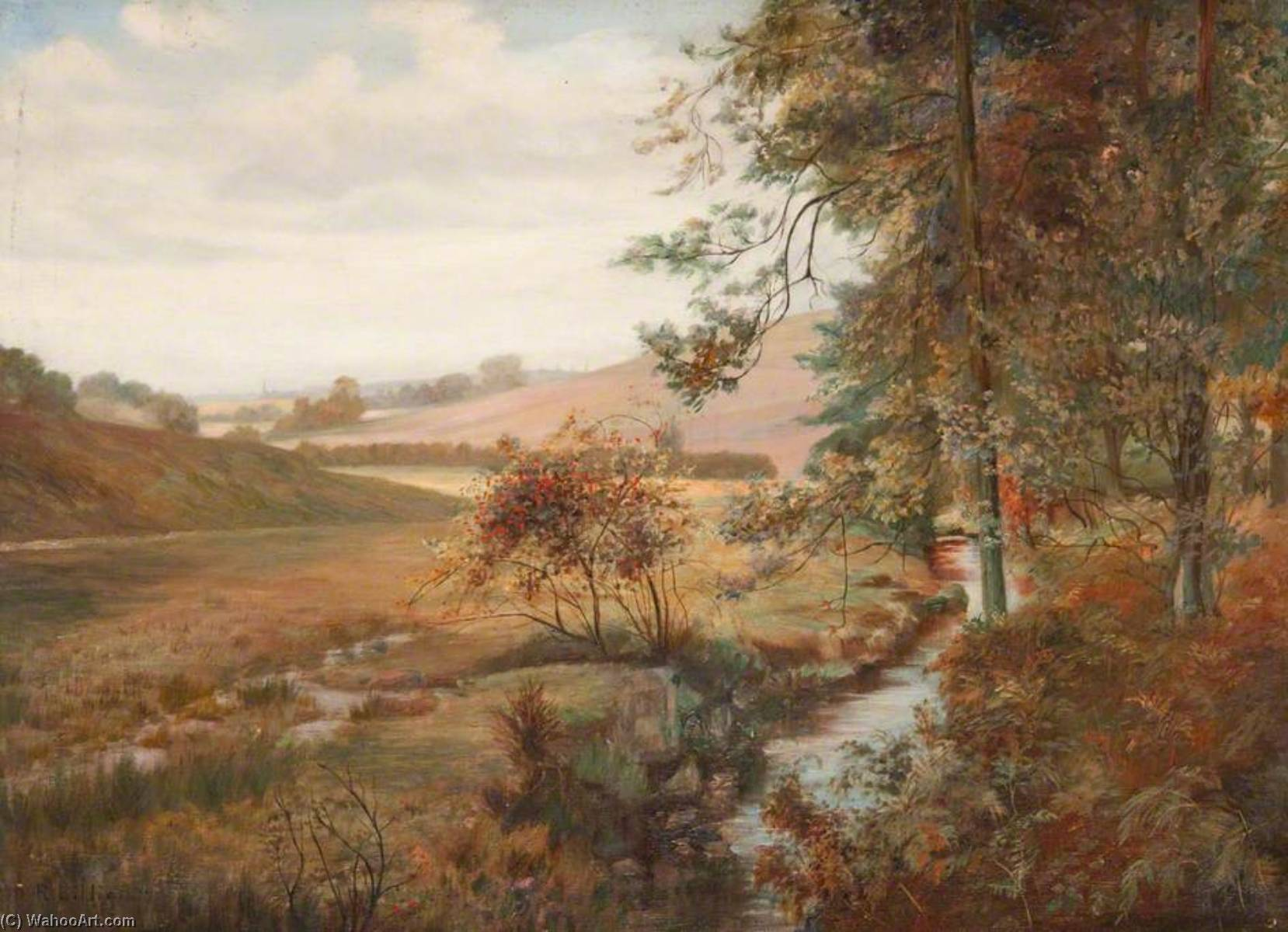 On Bankell Farm, Milngavie by Robert Lillie | Painting Copy | ArtsDot.com