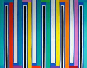 Mick Maslen - White Stripes (diptych, panel 2 of 2)