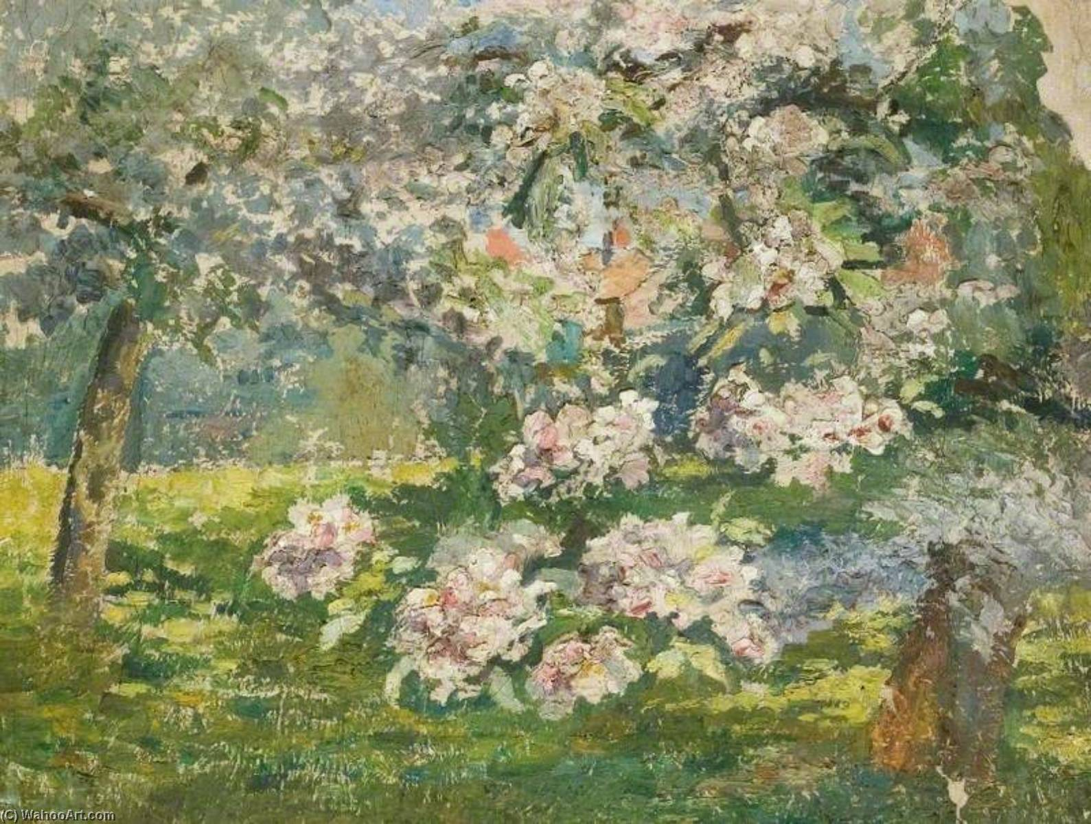Order Paintings Reproductions | Apple Blossom in the Garden at Kingsley, Bushey by Lucy Marguerite Frobisher | ArtsDot.com