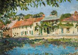 Lucy Marguerite Frobisher - The Pond and High Street,..
