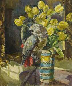 Lucy Marguerite Frobisher - Parrot and a Jug of Yello..