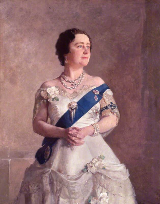 Queen Elizabeth, the Queen Mother, 1940 by Gerald Festus Kelly (1879-1972, United Kingdom) | Art Reproduction | ArtsDot.com