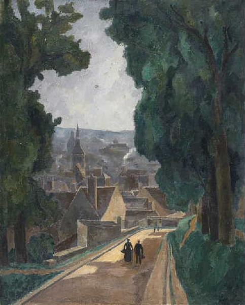 Vue de Provins by Antral Louis Robert (1895-1939) | Paintings Reproductions Antral Louis Robert | ArtsDot.com