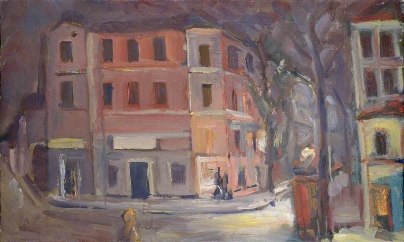 Street Scene (possibly Italy) by Theodor Kern | Oil Painting | ArtsDot.com