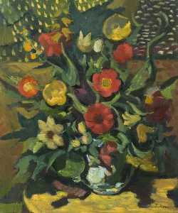 Theodor Kern - Still Life, Yellow and Re..