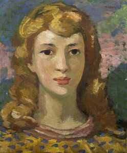 Theodor Kern - Portrait of a Girl in a G..