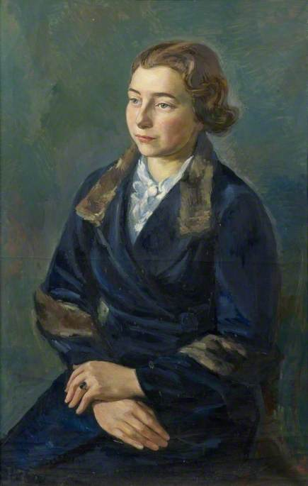 Female Portrait by Theodor Kern | Paintings Reproductions Theodor Kern | ArtsDot.com