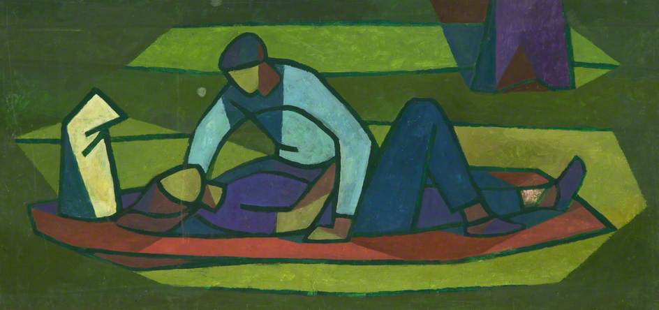 Man Leaning Over Woman by Cliff Rowe | Art Reproduction | ArtsDot.com