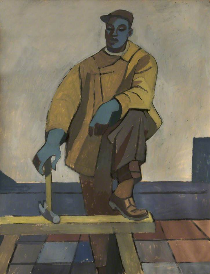 Roofer by Cliff Rowe | Art Reproduction | ArtsDot.com