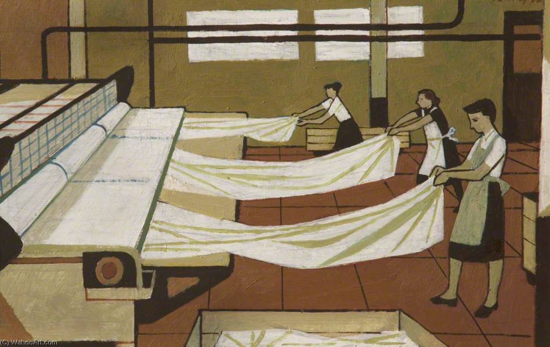 Hospital Laundry Workers by Cliff Rowe | Museum Quality Reproductions | ArtsDot.com