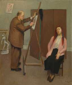Raphael Soyer - Marussia and David Burliu..