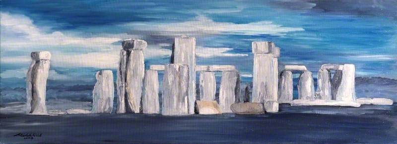 Blue Stonehenge, 2004 by Michele Elizabeth Field | Museum Quality Reproductions | ArtsDot.com
