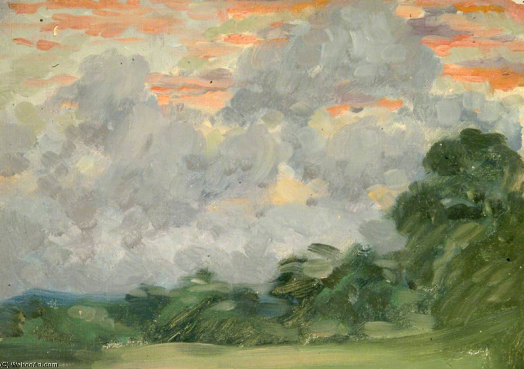 Trees and Clouds by Sidney Herbert Sime | Oil Painting | ArtsDot.com