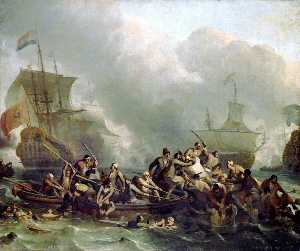 Ludolf Backhuysen - The Battle of Texel, 11 A..
