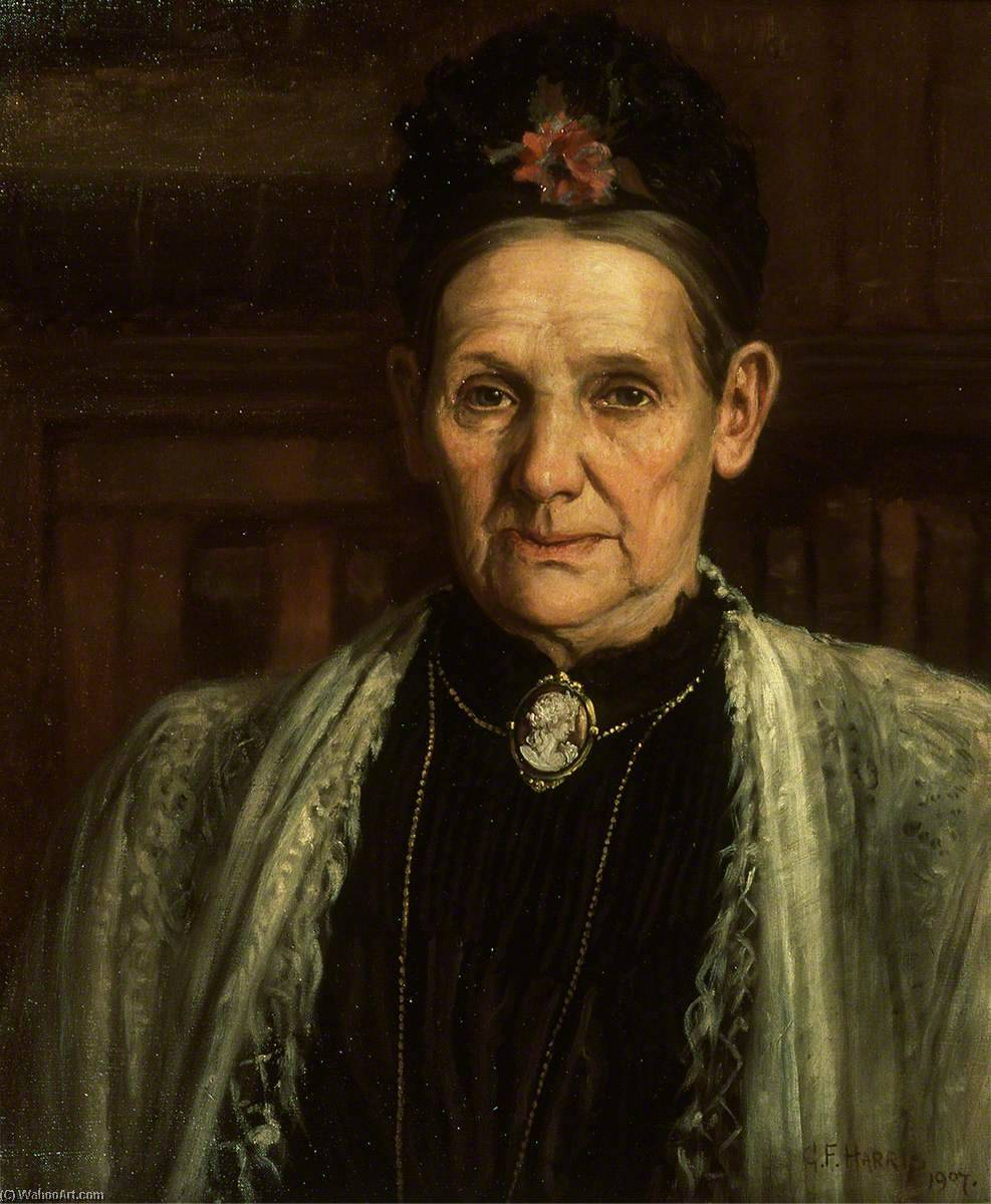 The Mother of Rosina Davies, 1907 by George Frederick Harris (1913-1991, United States) |  | ArtsDot.com