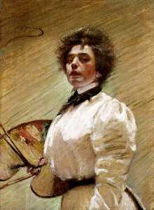 Alice Pike Barney - Self Portrait with Palett..