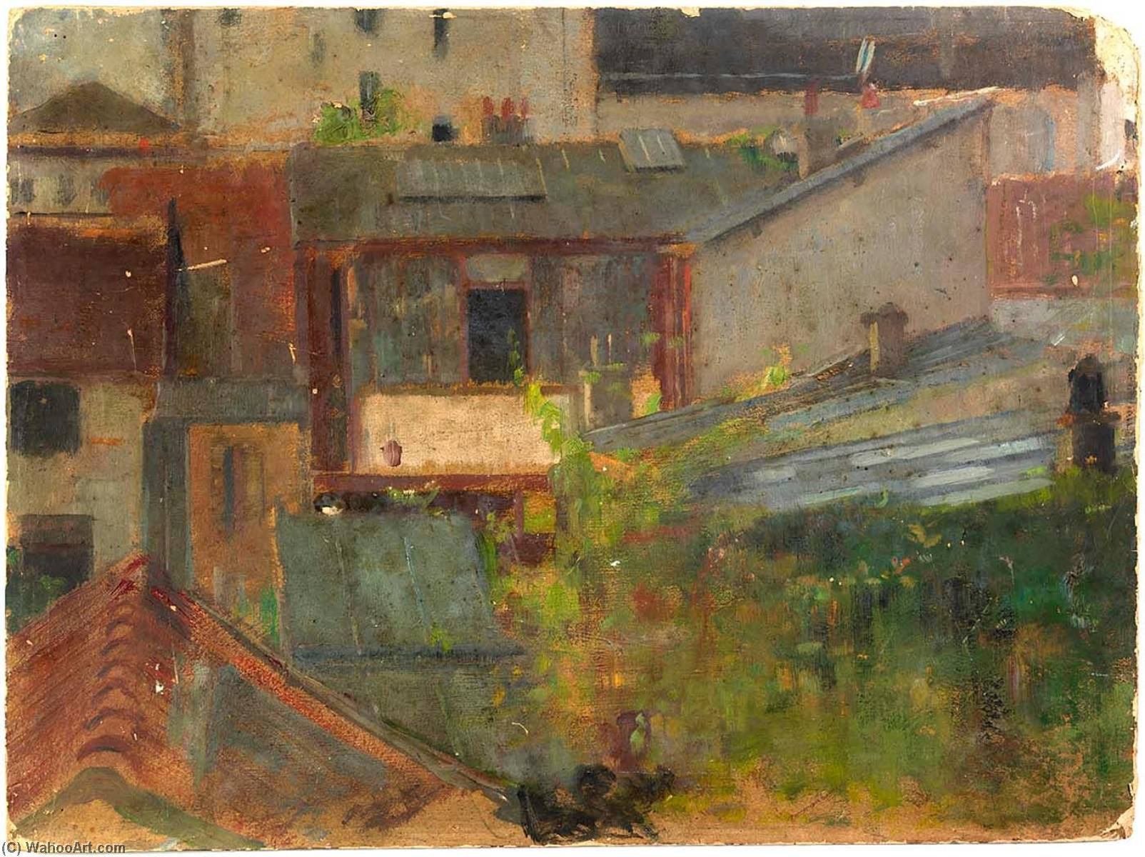 Order Art Reproductions | Rooftops, 1900 by Alice Pike Barney (1857-1931, United States) | ArtsDot.com