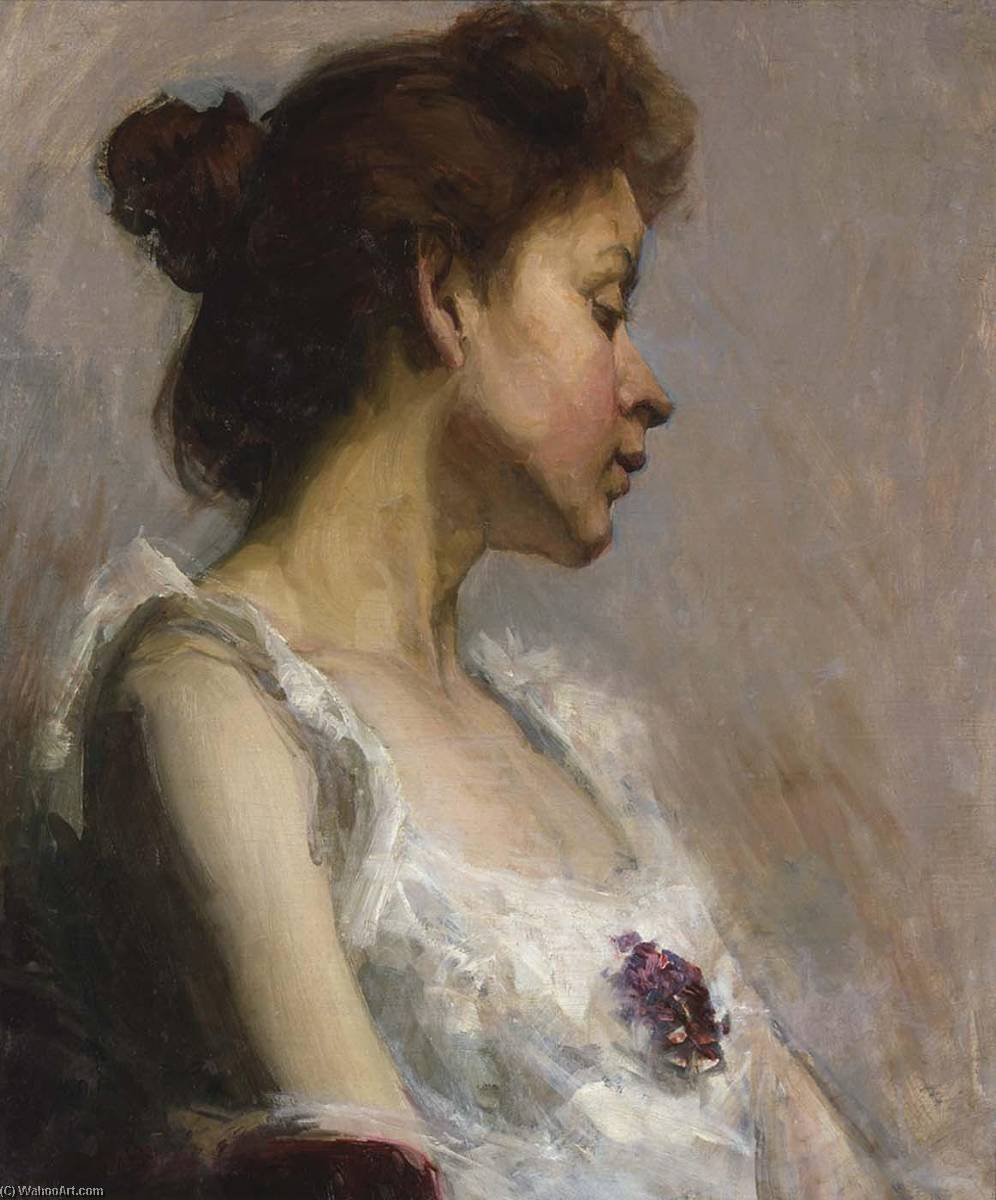 Portrait of the Artist`s Wife, 1897 by Henry Ossawa Tanner (1859-1937, United States) | Art Reproduction | ArtsDot.com