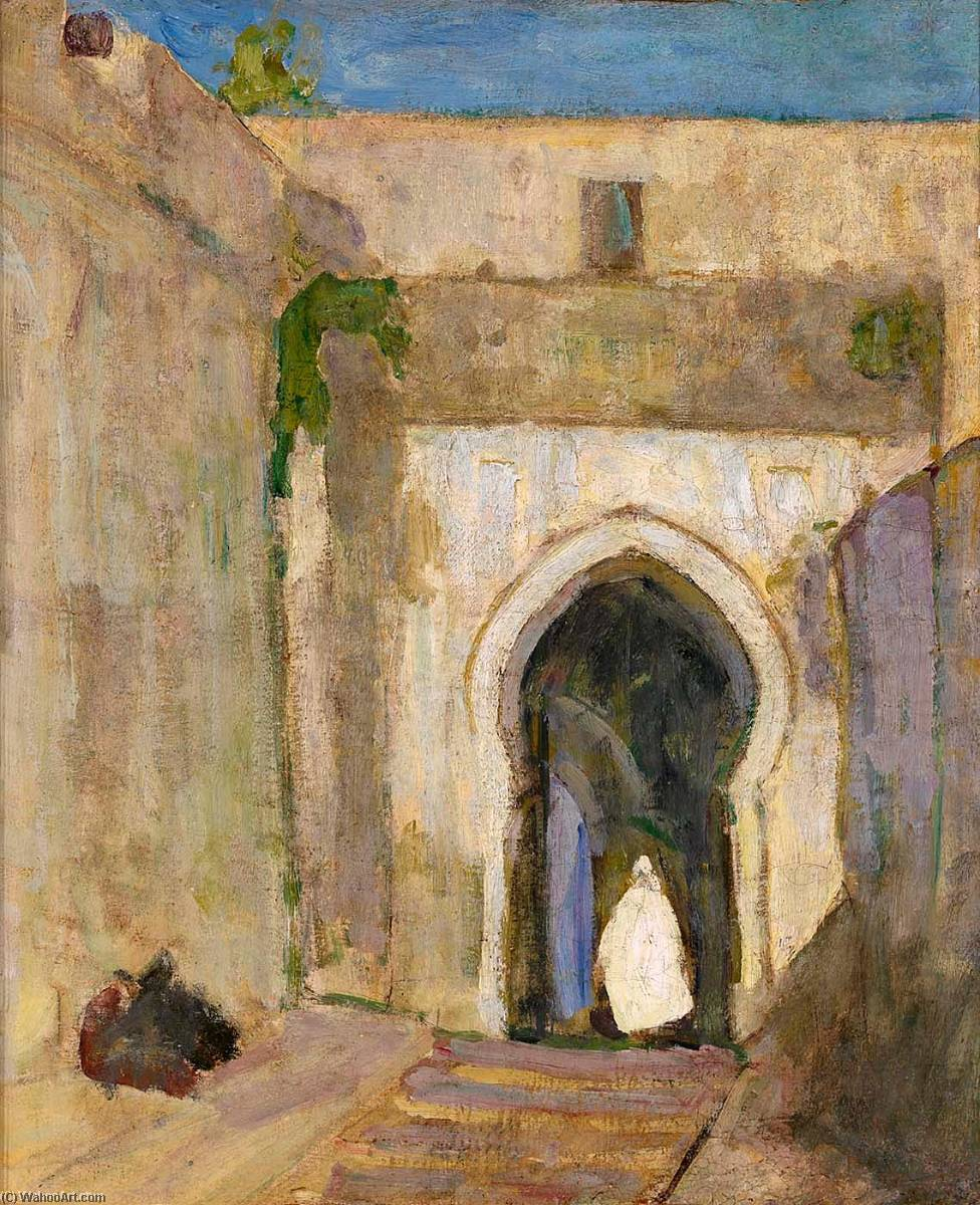 Gateway, Tangier, 1910 by Henry Ossawa Tanner (1859-1937, United States) | Painting Copy | ArtsDot.com