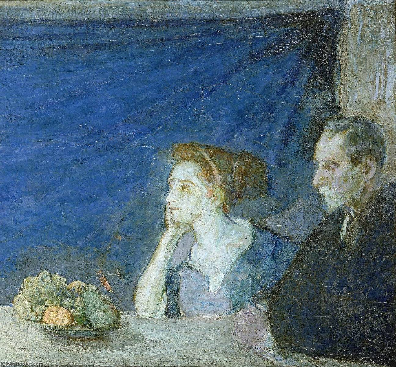 Portrait of Mr. and Mrs. Atherton Curtis with Still Life by Henry Ossawa Tanner (1859-1937, United States) | Museum Art Reproductions | ArtsDot.com