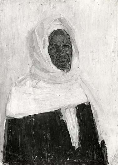 Study of an Arab, (painting), 1897 by Henry Ossawa Tanner (1859-1937, United States) | Paintings Reproductions Henry Ossawa Tanner | ArtsDot.com
