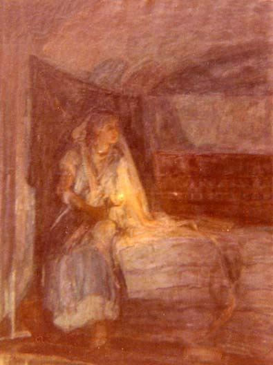 Rebecca (Another Subject, Unfinished, on Reverse), (painting) by Henry Ossawa Tanner (1859-1937, United States) | Paintings Reproductions Henry Ossawa Tanner | ArtsDot.com
