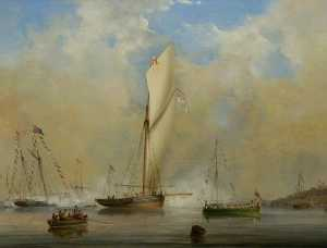 Nicholas Matthew Condy - The Queen's Barge off Osb..