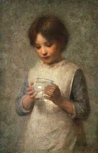 William Robert Symonds - Girl and Silver Fish