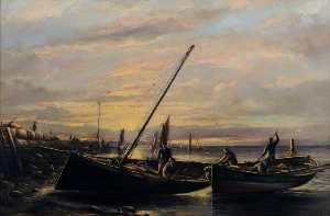 William Muir - Fishing Boats at Old Pier