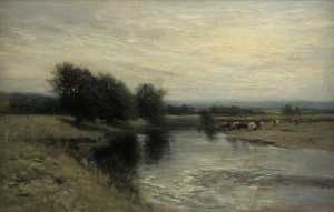 Archibald David Reid - Cows by a River