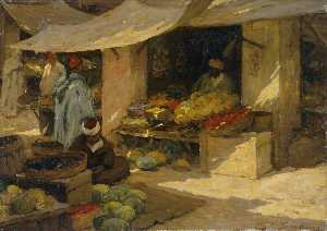 Terrick John Williams - Fruit Market, Tangier