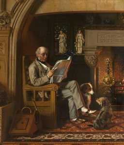 Henry Hetherington Emmerson - Sir William George Armstrong (1810–1900), 1st Baron Armstrong of Cragside, in the Inglenook at Cragside