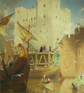 Frederick George Swaish - The Building of the Great Keep of Bristol Castle, 1125