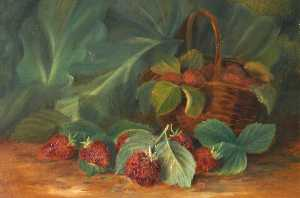 Rosalie Chichester - Still Life of a Basket of Strawberries