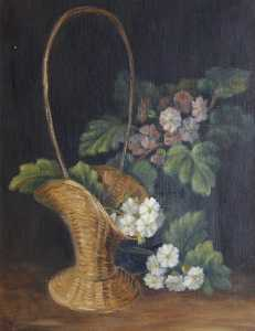 Rosalie Chichester - Still Life with Flowers in a Basket