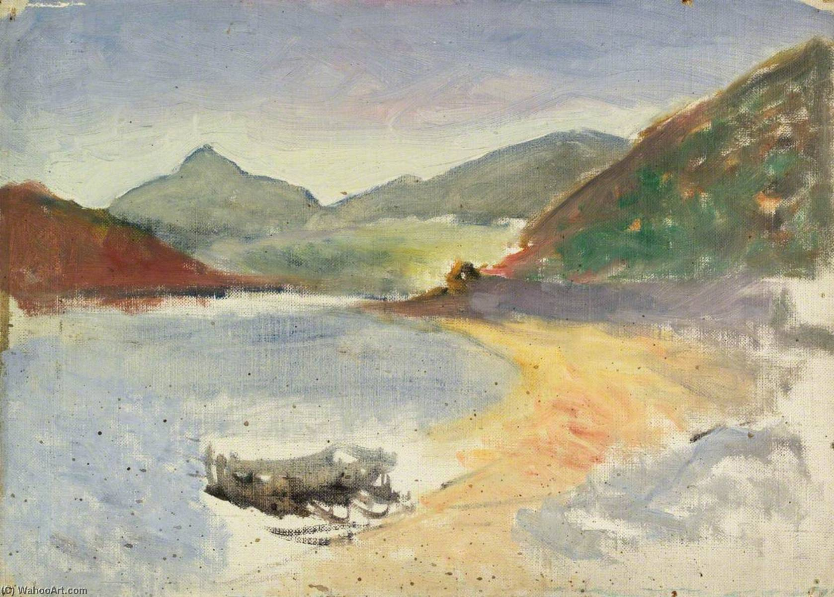 Lake and Mountains, 1920 by John Kelt Edwards | Art Reproductions John Kelt Edwards | ArtsDot.com