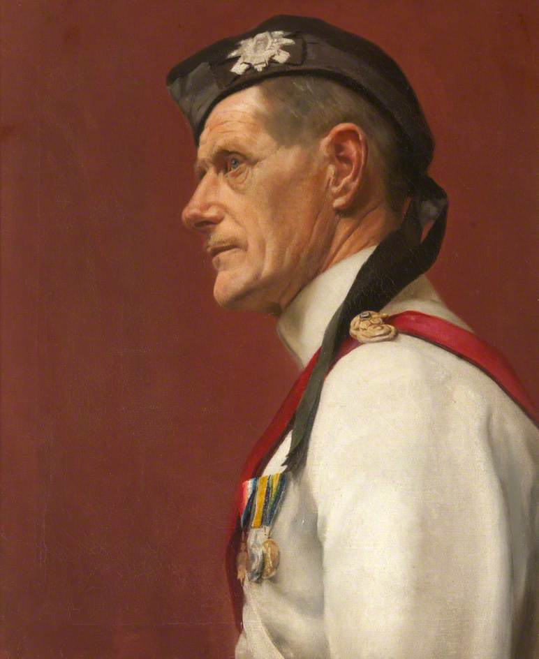 Portrait of an Unknown Officer, 1925 by John Bulloch Souter | Art Reproduction | ArtsDot.com
