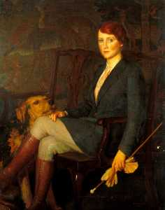 John Bulloch Souter - Fay Compton (1894–1978) (possibly as Crawford in -This Woman Business- by Benn W. Levy)