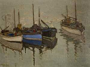 Georgina Moutray Kyle - Boats and Buoys after a S..
