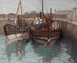 Georgina Moutray Kyle - The Herring Boats and Buo..