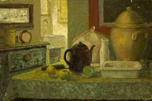 Ernest Zobole - Still Life with Coffee Pot