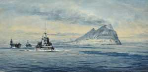 Rowland Langmaid - Force H off Gibraltar, 19..