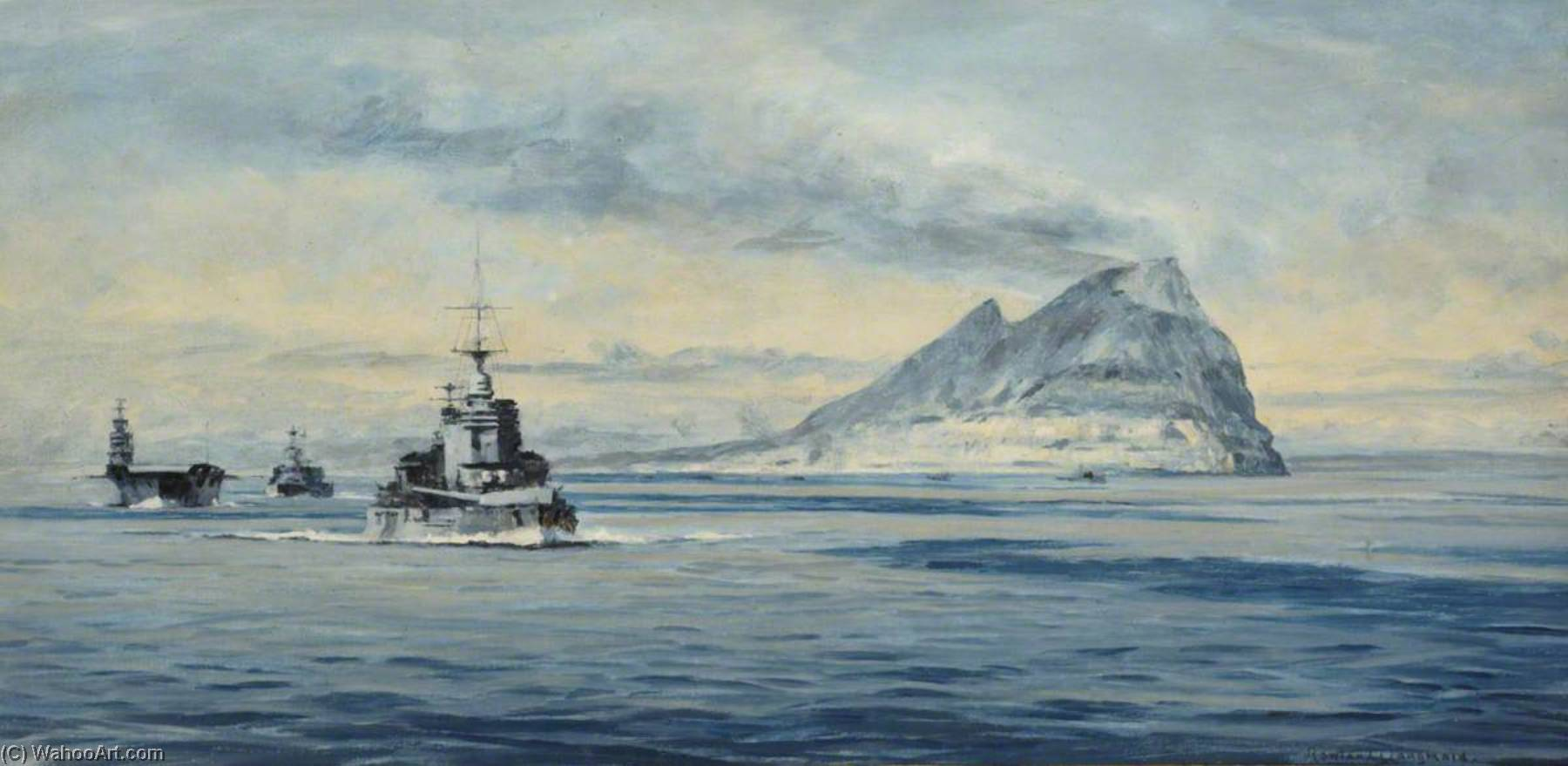 Force H off Gibraltar, 1940, 1940 by Rowland Langmaid | Art Reproduction | ArtsDot.com
