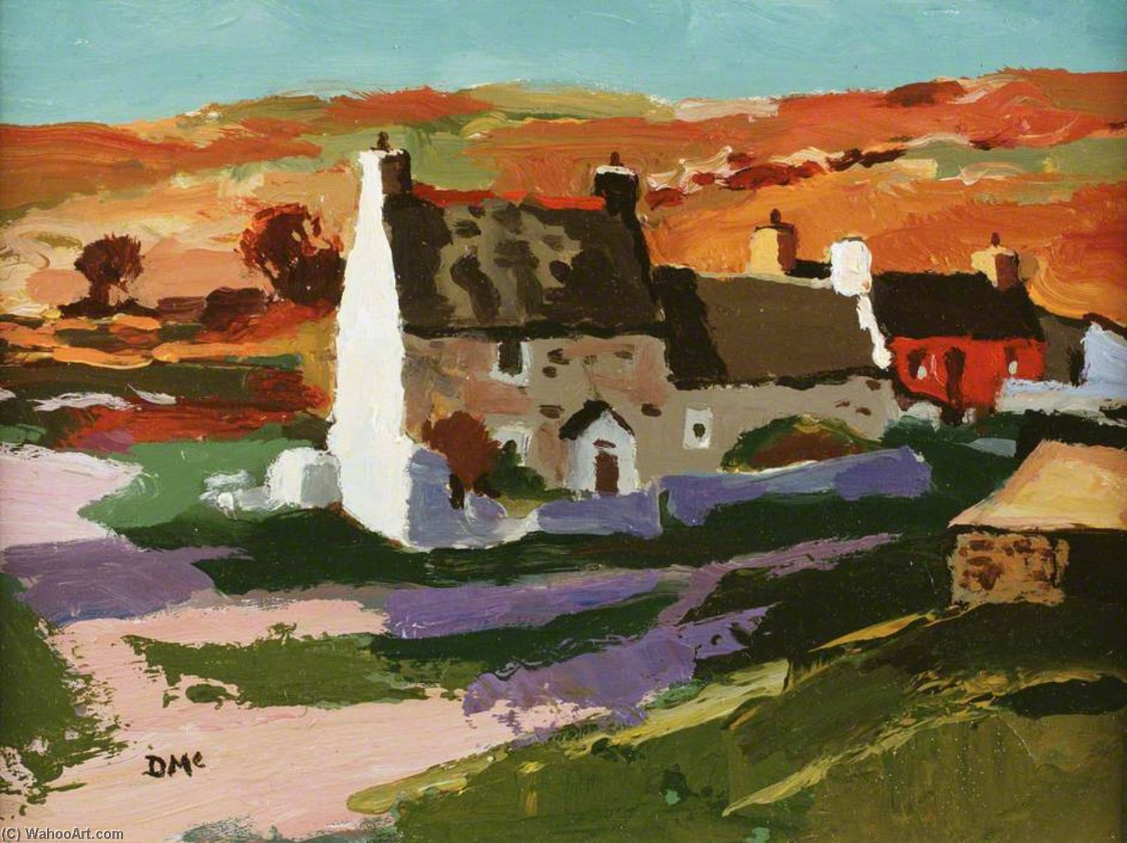 Sunlight on Hill, Abereiddy, 1997 by Donald Mcintyre | Art Reproductions Donald Mcintyre | ArtsDot.com
