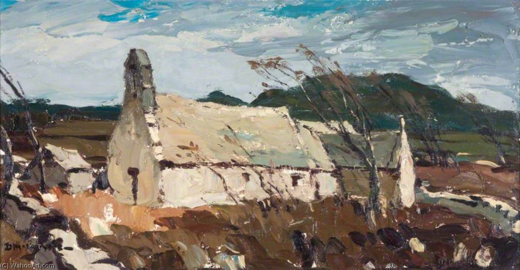 Old Church, Anglesey by Donald Mcintyre | Museum Quality Copies Donald Mcintyre | ArtsDot.com