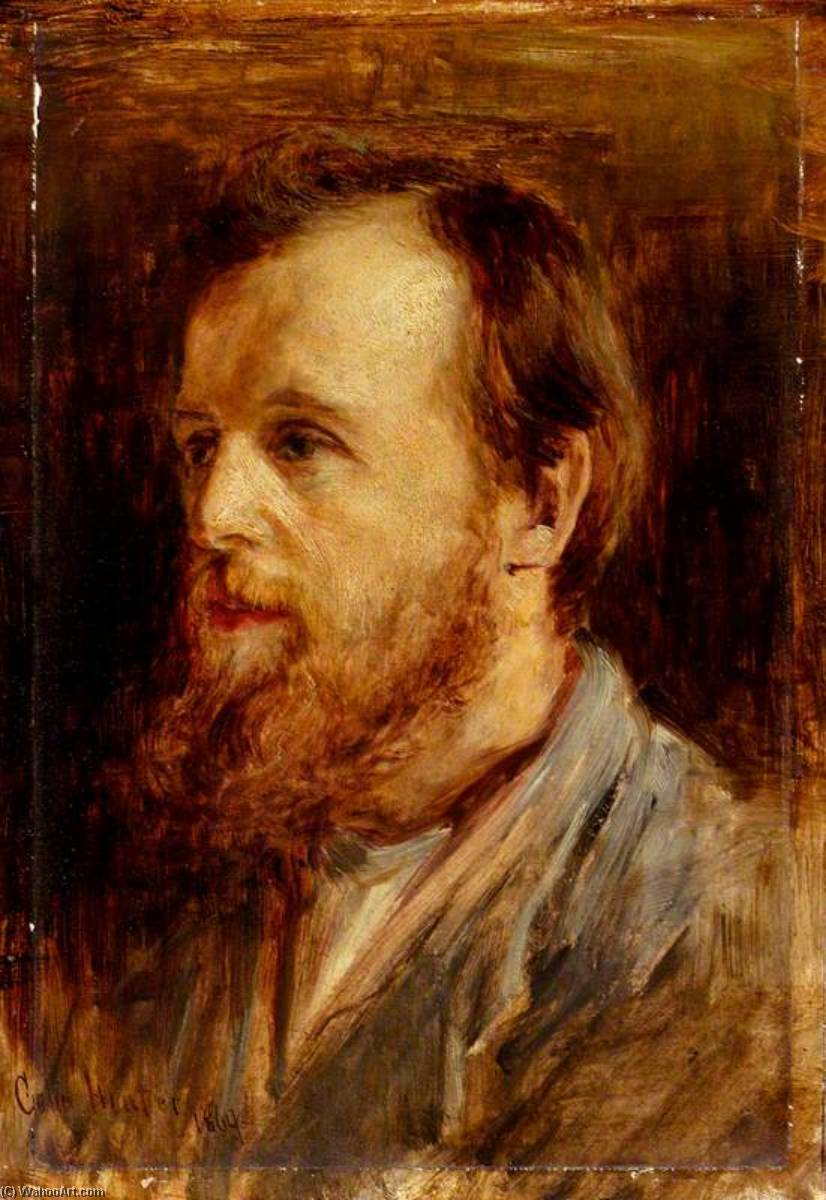 William Leiper (1839–1916), RSA, 1869 by Colin Hunter | Paintings Reproductions Colin Hunter | ArtsDot.com