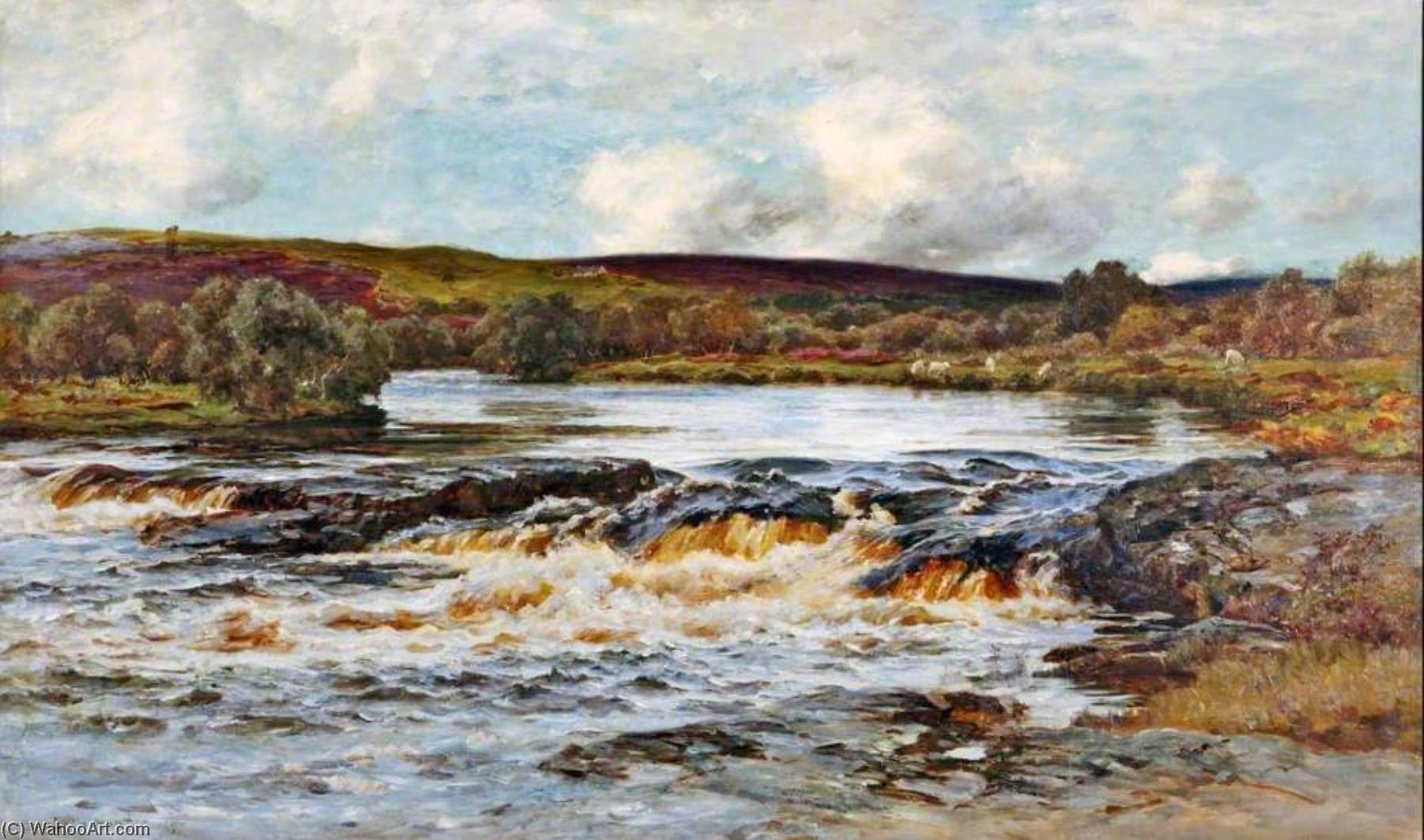 The Pool in the Wood, Helmsdale, 1897 by Colin Hunter | Paintings Reproductions Colin Hunter | ArtsDot.com