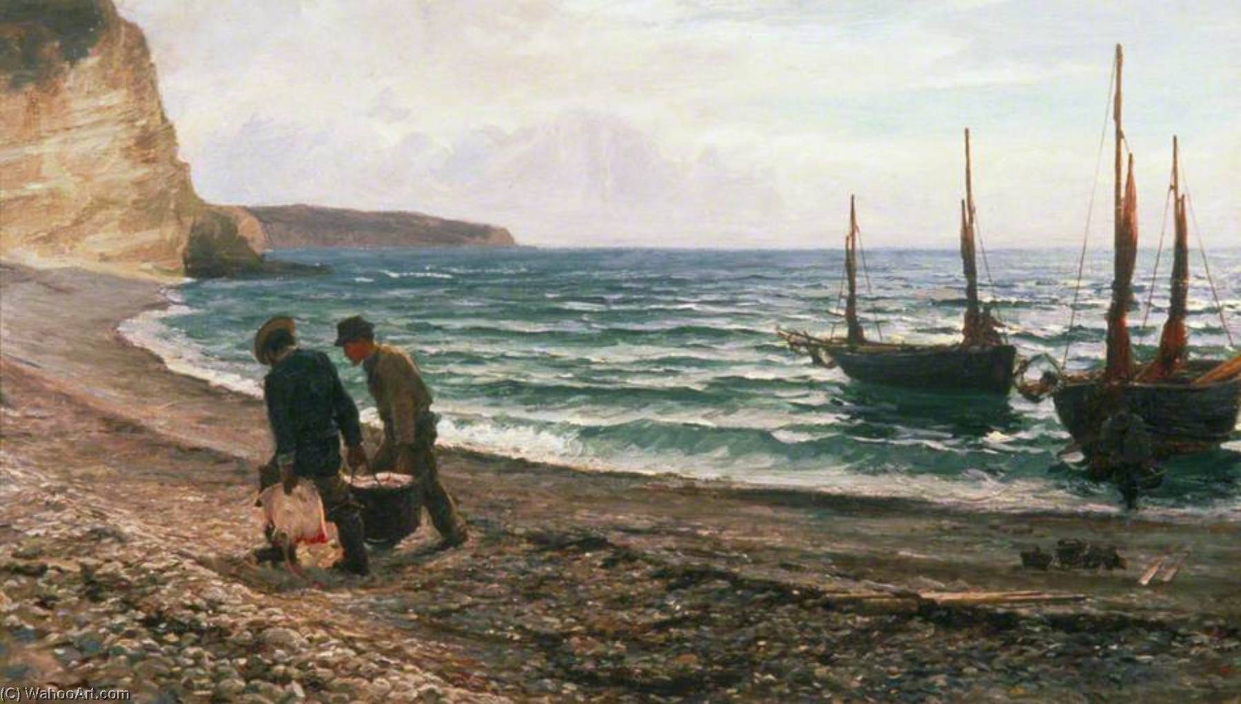 A Sea View, 1879 by Colin Hunter | Reproductions Colin Hunter | ArtsDot.com